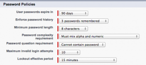 Salesforce Password Policies