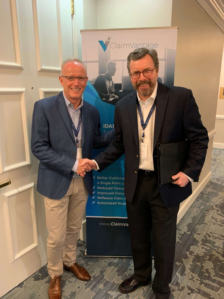 Leo Corcoran, ClaimVantage and Ian Bridgman, The Claim Lab announce partnership to enhance data-driven claim management