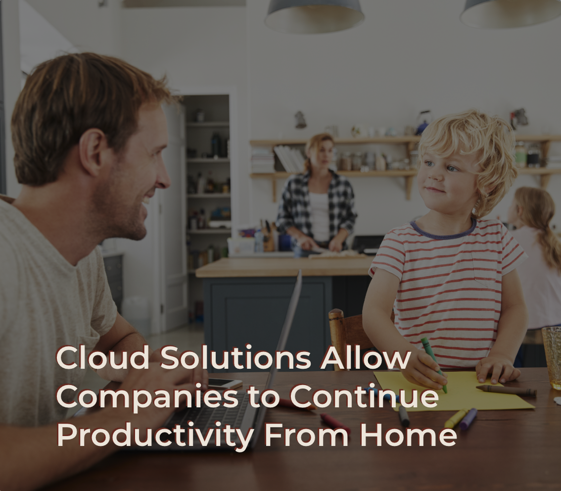 Employee working from home due to cloud computing