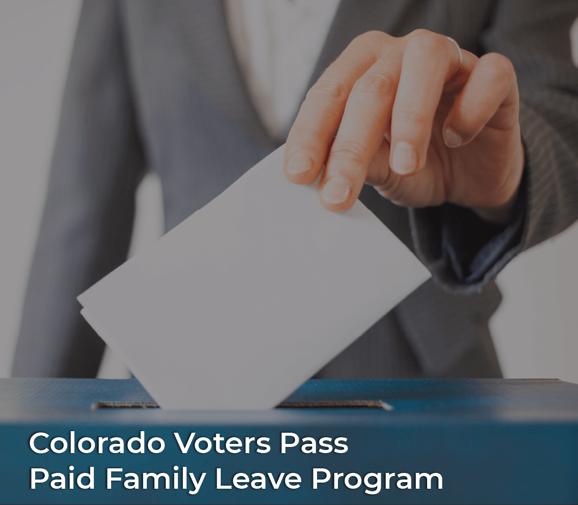 Colorado voters pass paid family leave program